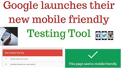 """Google launched new mobile friendly testing tool 