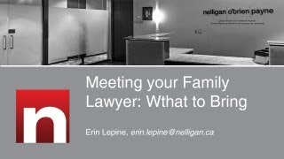 Meeting your Family Lawyer: What to Bring