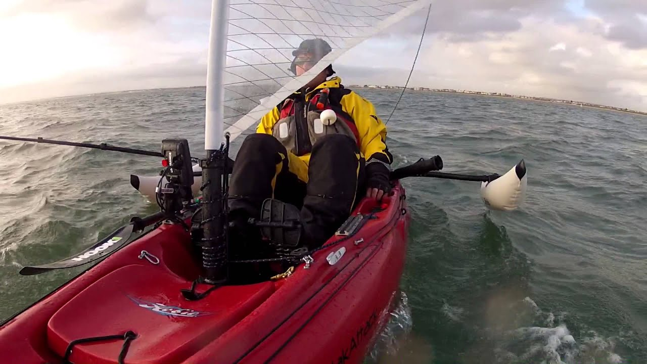 Hobie Outback Sailing Trials