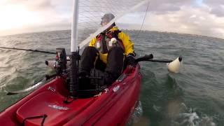 Hobie Outback sailing trials