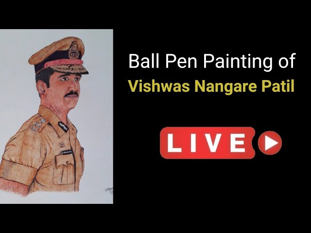 Vishwas Nangare Patil   Ball Pen Painting by Vishal Garad
