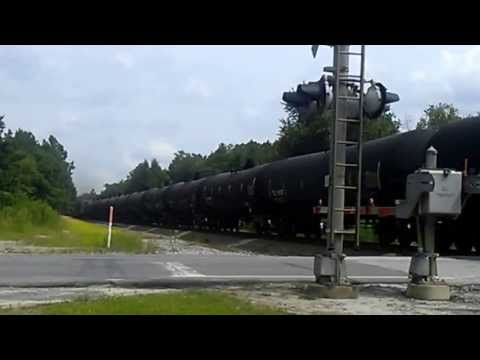 Union pacific Norfolk Southern tanker train at Fargo Ga.
