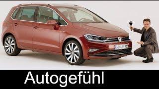 VW Golf Sportsvan SV Facelift REVIEW 2018 Volkswagen compact MPV - Autogefühl