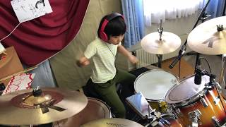 "Led Zeppelin - Good Times Bad Times   / Cover by Yoyoka , 8 year old  / 8歳小2女子ドラマー""よよか""が叩いてみた"
