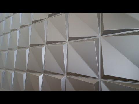 Rigid foam 3D wall panels installation - Falcon Eye