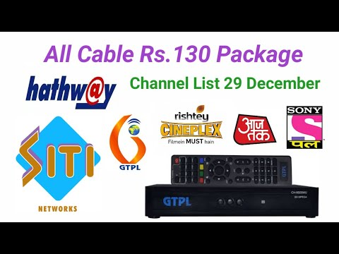 Hothway, GTPL, CITI All Cable TV Rs 130 Package Free Channel list 29  December 2018