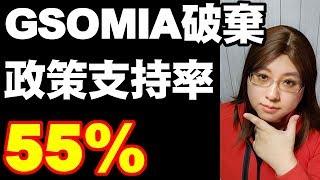 GSOMIA終了は国民の過半数55%が支持する好評政策 Korea wants to break relations with Japan