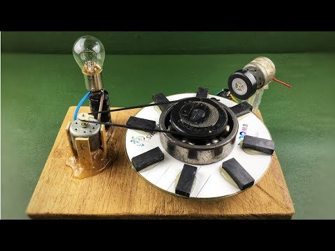 Awesome free energy device generator - Electric self running machine project at home