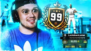 he hit 99 overall on the WORST build in 2K19...