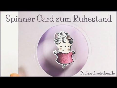 Spinner Card Basteln - Karte Zum Ruhestand