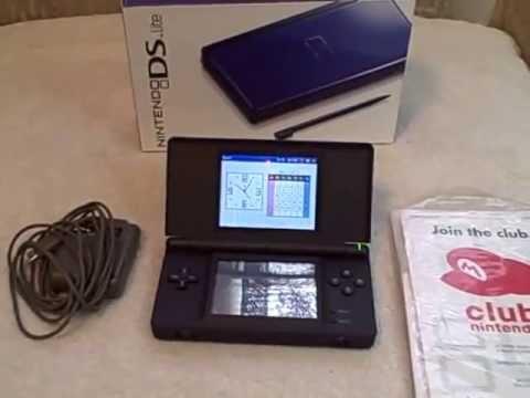 Cobalt Blue Nintendo DS Lite used Tested USG-001 serial UG254619874