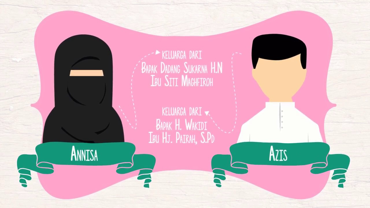 Video Wedding Invitation Moslem Couple