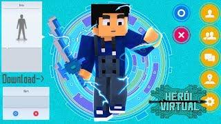 Minecraft HERÓI VIRTUAL #01 - ENTREI DENTRO DE UM JOGO REAL !!