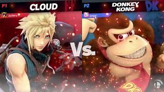 Cloud (Me) Vs Donkey Kong  - Super Smash Bros Ultimate