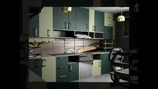 видео Варианты дизайна зелёных кухонь, материалы фасадов и оформление кухонных гарнитуров в зелёных тонах