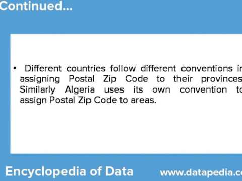 Algeria Postal Zip Codes Lookup - Datapedia