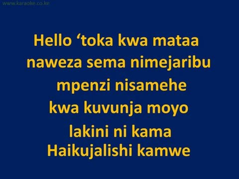 Adele Hello (Swahili Cover Dela) Lyrics Video