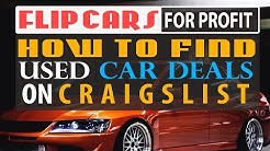 How To Find Used Car Deals on Craigslist in Your Local Area | Flip Cars for  Profit