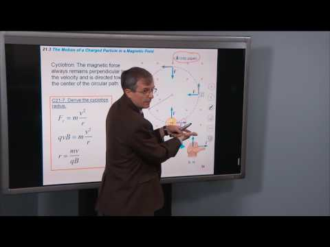 21.3 The Motion of a Charged Particle in a Magnetic Field