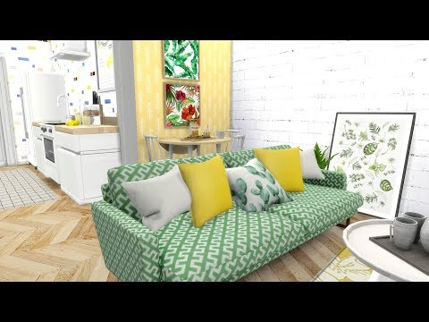 The Sims 4: Speed Build // HOME FOR ONE + CC LINKS thumbnail