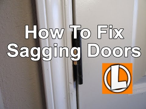 How To Fix A Sagging Door >> How To Fix Sagging Doors Easily Align And Square Your Doors Using Shims