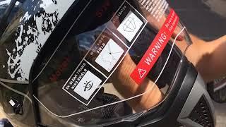 Обзор шлема для мотоцикла АТАКИ с защитным стеклом и очками FF103 Monster
