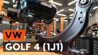Kā nomainīt priekšējās svira VW GOLF 4 (1J1) [AUTODOC VIDEOPAMĀCĪBA]