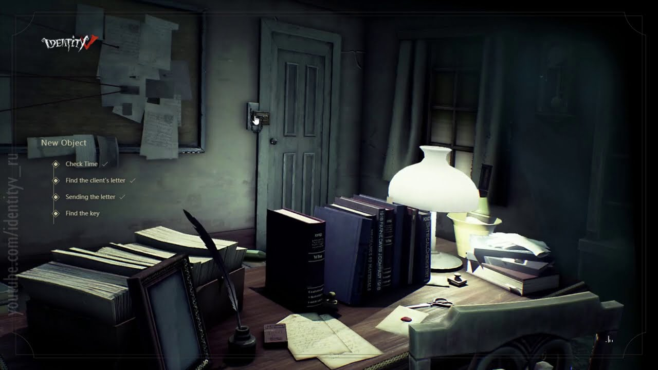 Opening: Client's mail / Plot and Lore Identity V