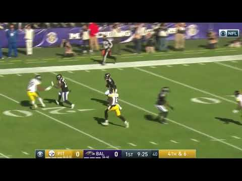 Ben Roethlisberger Punt vs. Ravens | NFL Highlights