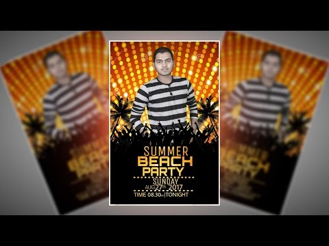 How To Make A Summer Party Flyer In Picsart | Picsart Editing Tutorial By AB Creation