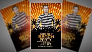 How Make Summer Party Flyer Picsart