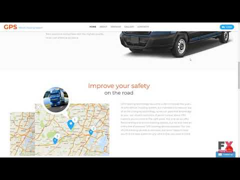 GPS Vehicle Tracking System Website Template TMT   Free Template  Har