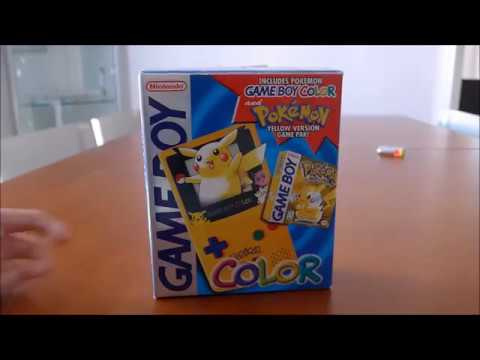 Nintendo Handheld Gameboy Color Pikachu Pokemon Special Edition - Unboxing !
