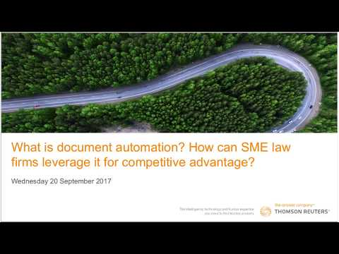 What is document automation? How can SME law firms leverage it for competitive advantage?