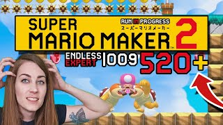 ROCKED! ENDLESS EXPERT 009 | 520+// SUPER MARIO MAKER 2