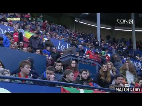 Lionel Messi Amazing Second Goal   Osasuna vs Barcelona 0 3   La Liga 10 12 2016 HD