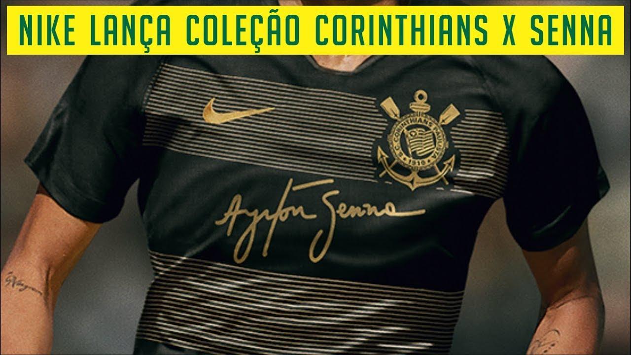 3f3c0b4ad NIKE LANÇA COLEÇÃO CORINTHIANS X AYRTON SENNA - NOVO TERCEIRO ...