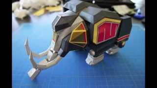 MAMMOTH PAPERCRAFT - POWER RANGERS (MEGAZORD)