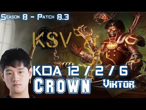 KSV Crown VIKTOR vs ANIVIA Mid - Patch 8.3 KR Ranked