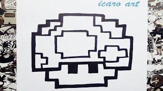 Como dibujar al hongo de Mario bros | how to draw goomba