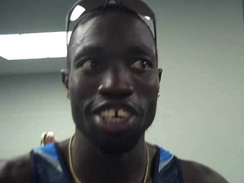 Lopez Lomong After Making the 1500m Final