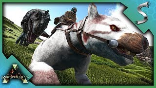 HERDING AND TRAPPING WILD GIGAS - Ark RAGNAROK DLC Gameplay S3E36