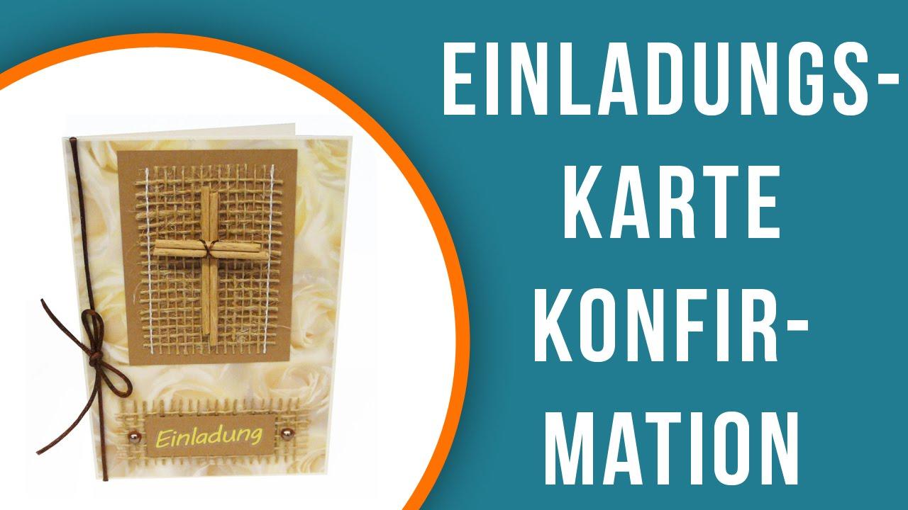 Einladungskarten Konfirmation Basteln | Trendmarkt24
