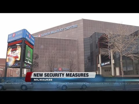 New security measures at the BMO Harris Bradley Center