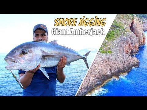 Türkiye'nin En Bakir Merasında Dev Balık Yakaladık / Shore Jigging Amberjack