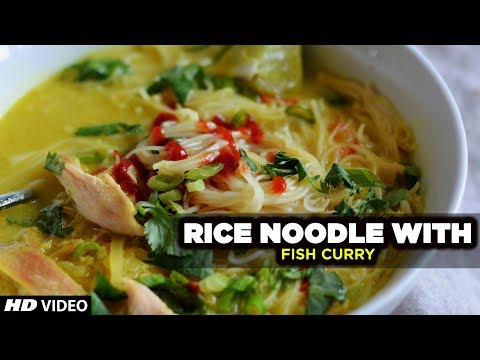 Thai Street Food | Rice Noodles W/ Fish Curry | Kanom Jeen Namya