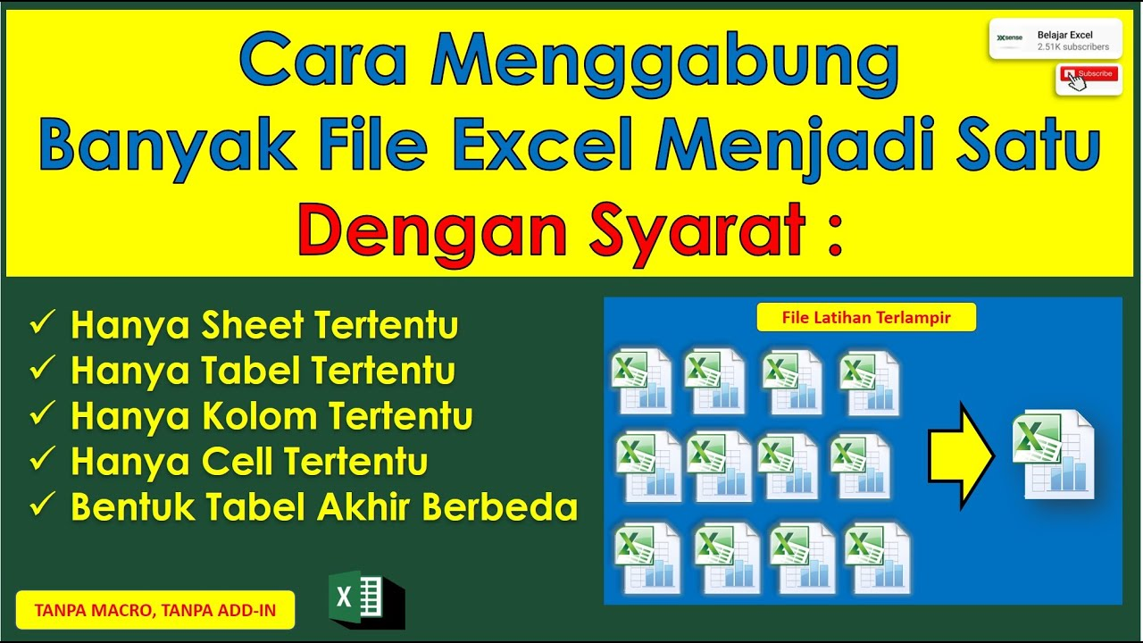 cara menggabungkan banyak file excel menjadi satu hanya sheet dan kolom tertentu