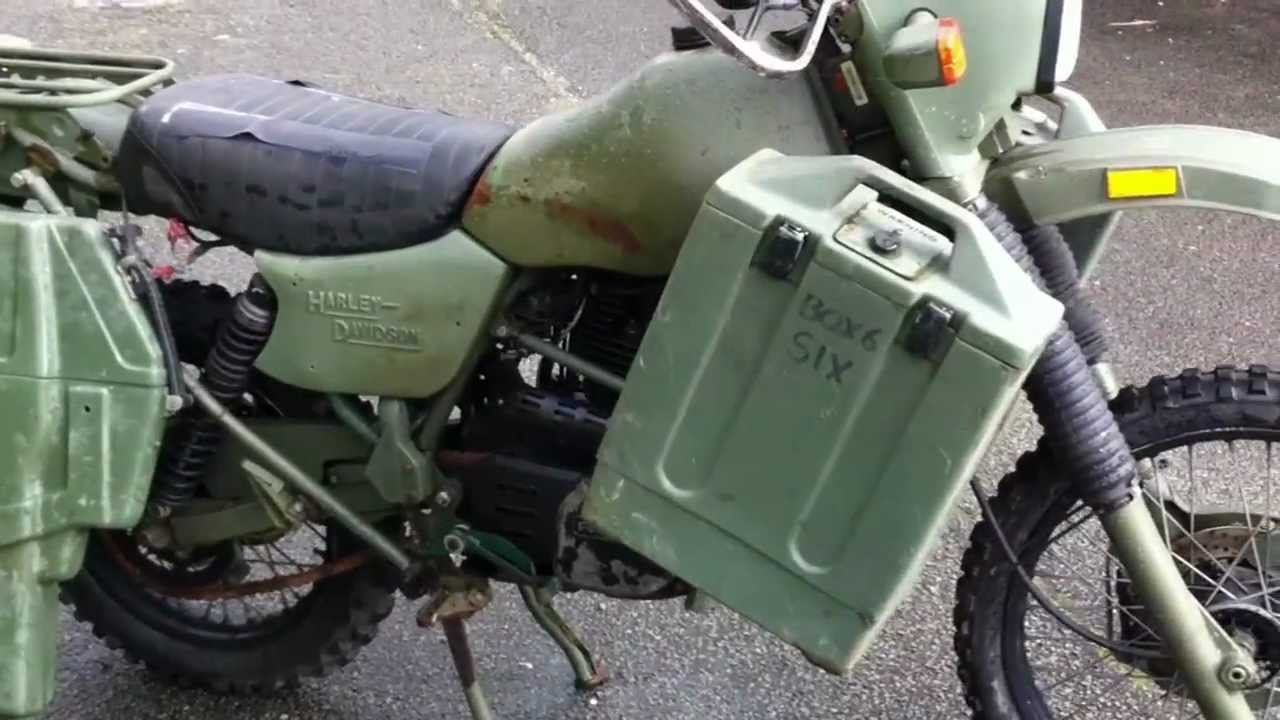 Harley Davidson Army: Harley Davidson MT 350 EX British Army Motorcycle MOD For