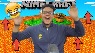 Minecraft But Lava Rises Every Second Challenge ft. Chapati Hindustani Gamer