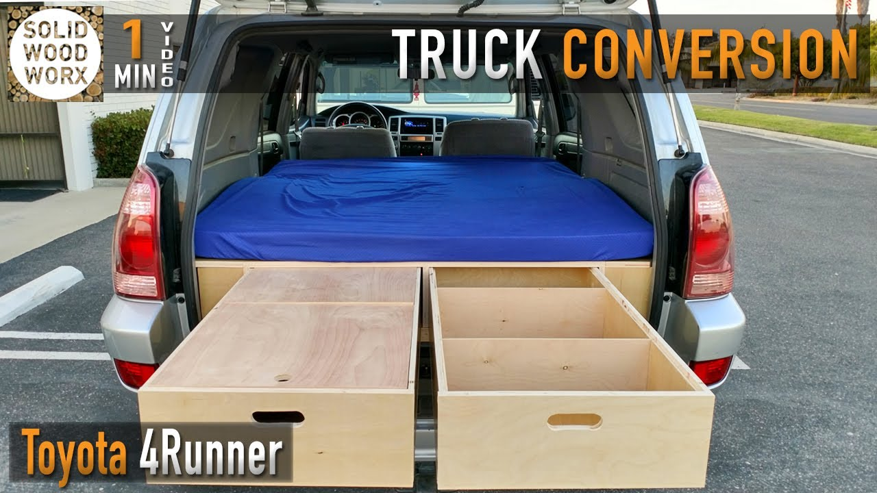 4runner Camper Conversion >> 4Runner Dual Drawer Storage and Bed System - YouTube